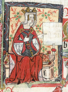 A depiction of Matilda in a medieval manuscript