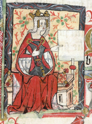 Empress Matilda - 15th-century depiction of the Empress