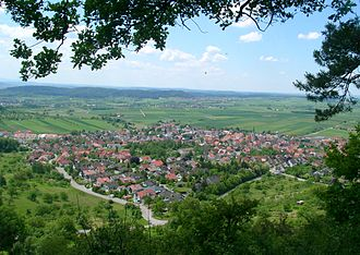 """Entringen -  View on Entringen from the """"Schönbuchspitz"""""""