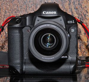 Front View of the Canon EOS-1D Mark III Digita...