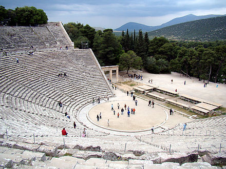 The theatre of Epidauros, 4th century BC Epidauros.jpg