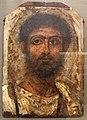 Epoca romana, ritratto di unomo barbuto, 100-150 dc ca., da fayoum.JPG