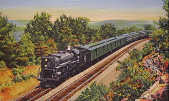 Erie Railroad - The Erie Limited, which traveled between New York-Chicago