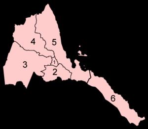 Politics of Eritrea - Regions of Eritrea