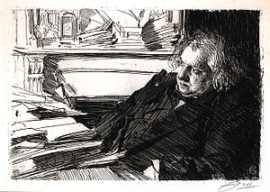 Ernest Renan - Ernest Renan in his study by Anders Zorn