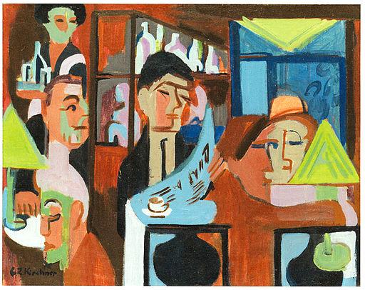 Ernst Ludwig Kirchner - Davoser Cafe - 1928