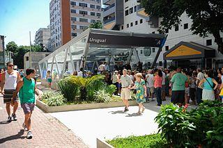 Uruguai Station metro station in Rio de Janeiro, Brazil