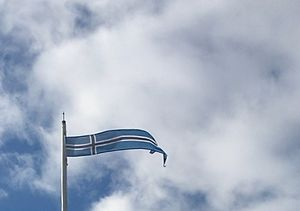 Vormsi -  An Estonian cross flag is used on the island