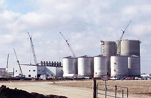 Food vs. fuel - An ethanol fuel plant under construction, Butler County, Iowa