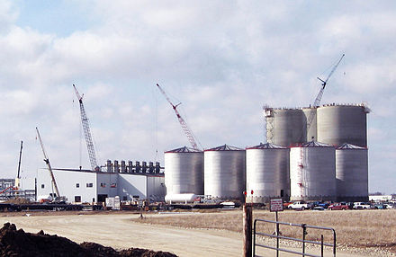 Ethanol plant under construction in Butler County. Ethanol butler co iowa.jpg