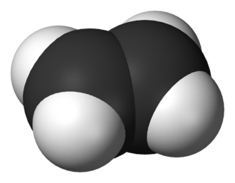 Alkene - A 3D model of ethylene, the simplest alkene.