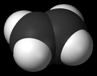 Alkene - A 3D model of ethylene, the simplest alkene.