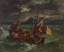 Eugène Delacroix: Christ on the Sea of Galilee