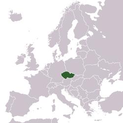 Розташування чехії у європі