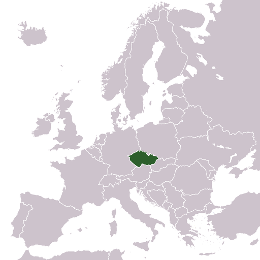 Lage von Tschechien in Europa