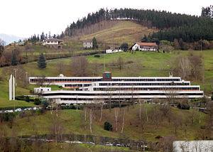 Central offices of Caja Laboral in Mondragón. ...