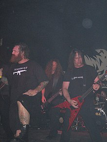 Exodus in 2007. From the left: Rob Dukes, Jack Gibson, Gary Holt