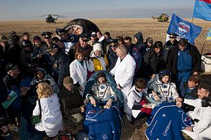 Expedition 20 - Image: Expedition 20 Comes Home