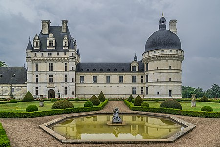 Exterior of the Castle of Valençay, Indre, France