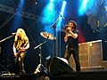 Extreme (band) Pat Badger and Kevin Figueiredo Southpark Festival, Finland, 2015.jpg