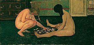 Femmes nues jouant aux dames