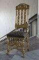 Förgylld stol, 1600-talets sista hälft - Skoklosters slott - 103864.tif