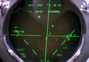 AN/AWG-9 - Tactical information display (TID) of radar data in the rear seat of an F-14A.
