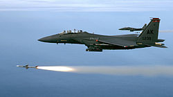 F-15 firing AIM-7Ms