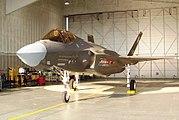 F-35 in hangar