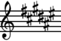 F-sharp Major key signature
