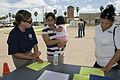 FEMA - 37378 - FEMA community relations worker speaks with Texas resident.jpg