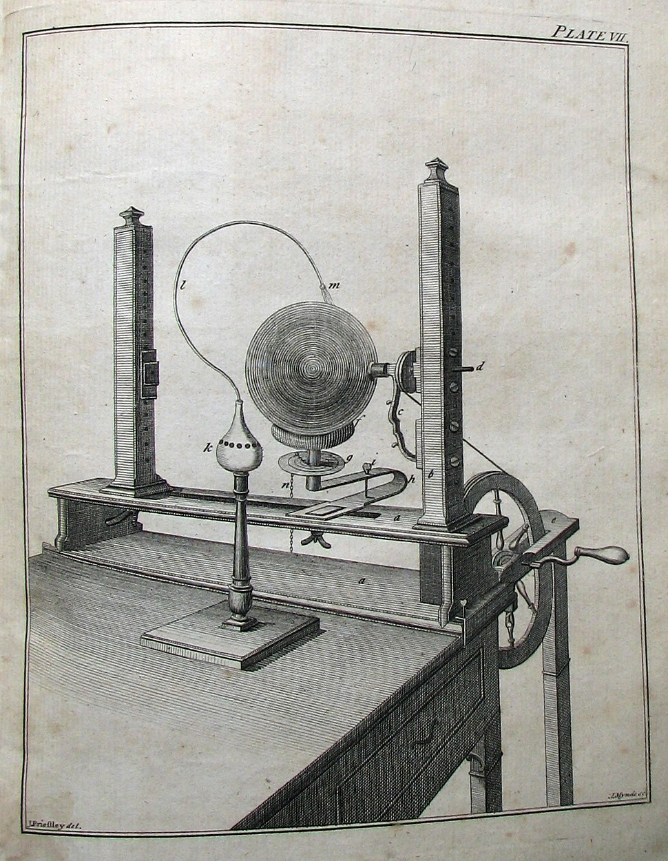 Familiar Introduction to Electricity by Joseph Priestly, plate 7