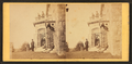 Family posing in front and in the balcony of stone house, from Robert N. Dennis collection of stereoscopic views 15.png