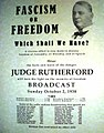 Fascism of Freddom (JF Rutherford Broadcast - 2 october 1938).jpg
