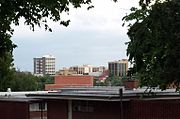 Fayetteville skyline from Old Main lawn