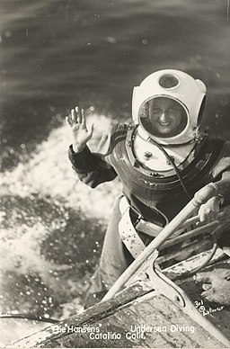 Female deepsea diver