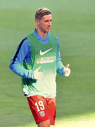 Fernando Torres - Torres warming up for Atlético Madrid in 2015