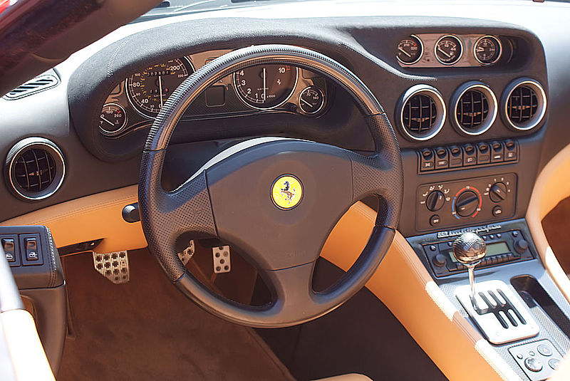 File:Ferrari 550 2001 Barchetta Pininfarina Cockpit CECF 9April2011 (14414293338).jpg