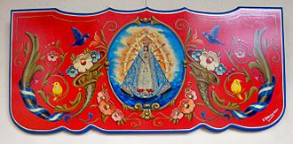 Our Lady of Luján - Image: Fileteado Virgen de Luján Edgardo Morales