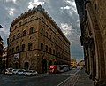 Firenze - Florence - Piazza Santa Trìnita - ICE Photocompilation Viewing from SSE to SSW on Palazzo Spini Feroni 1289 & Via de Tomabuoni.jpg