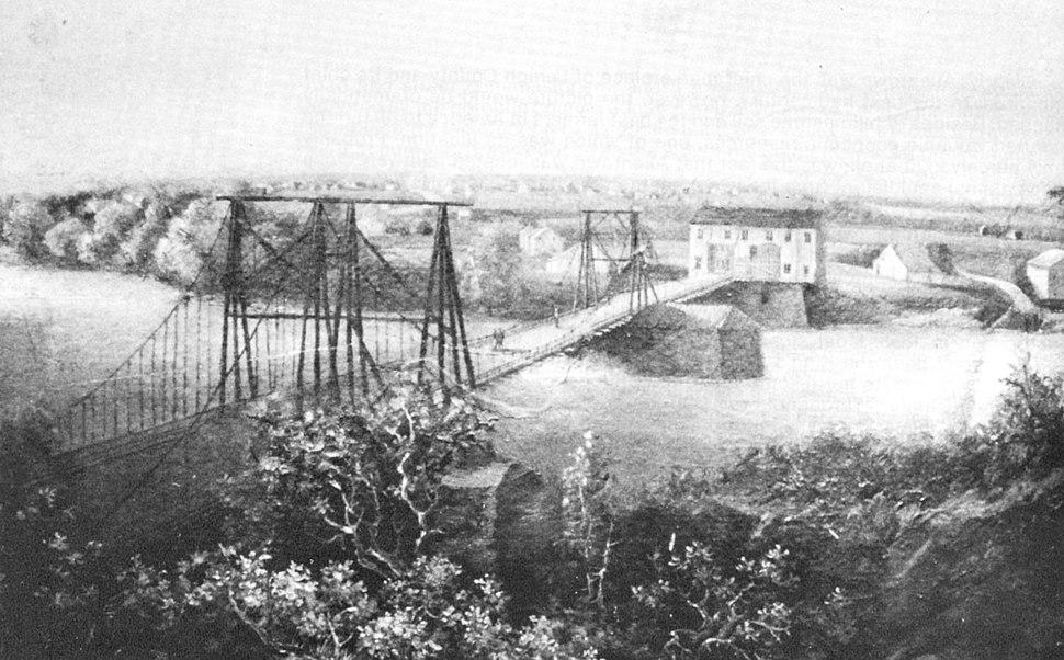 First Bridge Across Lehigh River