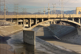 1st Street, Los Angeles - First Street bridge over the LA River