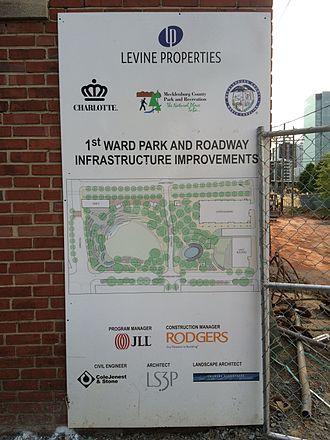 First Ward Park (Charlotte, North Carolina) - Image: First Ward Park Construction Diagram