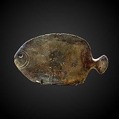 Fish-shaped kohol palette-E 24724