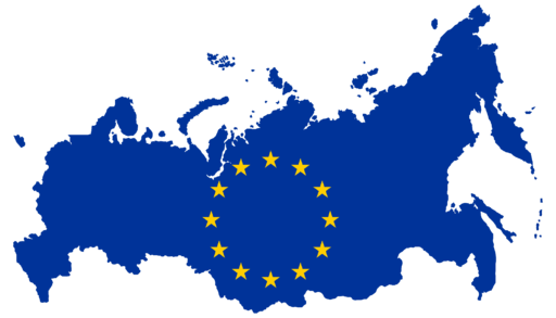 Flag Map of Russia (European Union)