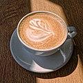 Flat white coffee at Sainsbury's, Chingford, London, England 3.jpg