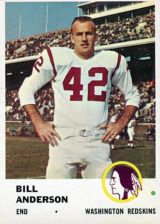 Fleer - Bill Andderson football card of 1961. Fleer produced football cards from 1960 to 1964