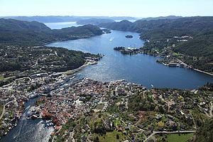Flekkefjord - View of the town of Flekkefjord