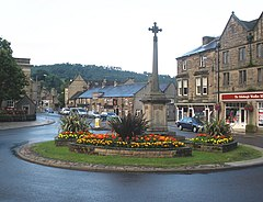 Floral roundabout, Bakewell - geograph.org.uk - 1407646.jpg