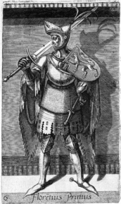 Historical representation of Florens I of Holland from 1578
